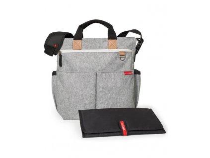 Taška prebaľovacia Duo Signature - grey melange