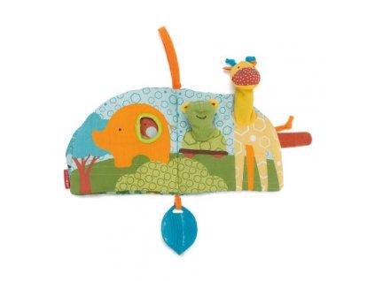 Skip Hop Knižka s maňuškami Giraffe Safari 0m+ 307417
