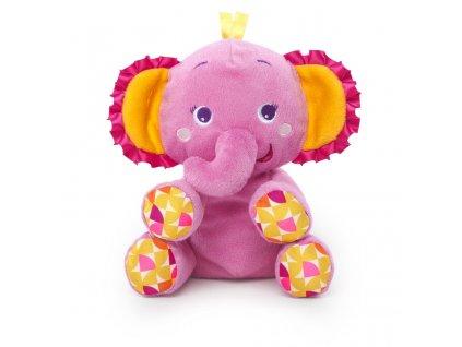 Bright Starts Hračka plyšová PiP Snuggle 'n Shake Pal™ slon 0m+ 52148-6