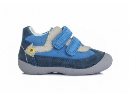 D.D.STEP kožené topánky - Calypso sky - šedá šípka