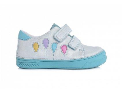 D.D.STEP kožené topánky White báloniky