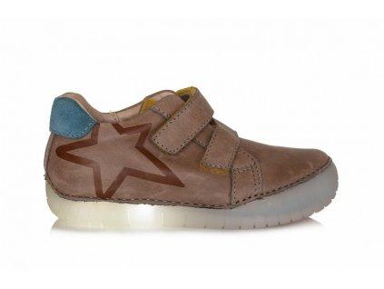 D.D.STEP LIGHT svietiace kožené topánky - Chocolate hviezda 11b8d3f42c8