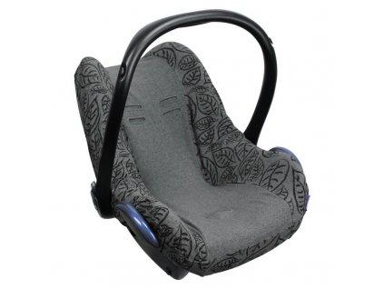 Dooky poťah na autosedačku Seat Cover 0+ Grey Leaves