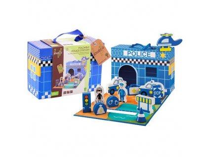Jouéco policajná stanica v kufríku 13ks 18m+