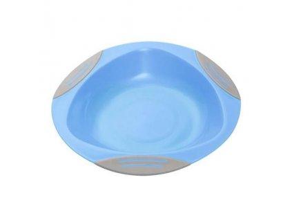 BabyOno Tanier s prísavkou modrá 6m+ 1062-BOb