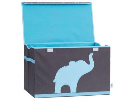 store it truhlica na hračky siva modry slon