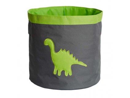 store it ulozny kos velky sivy so zelenym dinosaurom