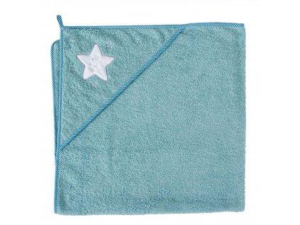 Ceba Osuška s kapucňou Froté 100x100 Hviezda modrá Ceba W-815-066-158