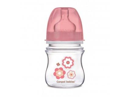 Dojčenská antikoliková fľaša široká EasyStart 120ml Newborn Staroružová