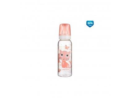 Dojčenská fľaša plast Veselé zvieratká plast 250ml 12m+ Koník