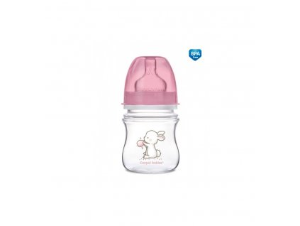 Dojčenská antikoliková fľaša široká EasyStart 120ml 0m+ Little Cutie Ružová