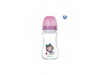Dojčenská antikoliková fľaša široká EasyStart 240ml 3m+ Toys Ružová