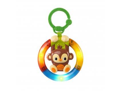 Bright Starts Hračka hudobná, svietiaca na C krúžku Shake&Glow opička 3m+ 11117-6