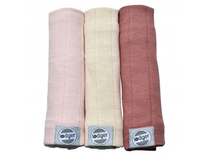 LODGER Swaddler Solid 3ks 70 x 70 cm Soft Skin
