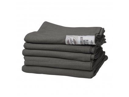 LODGER swaddler solid 70x70cm Carbon