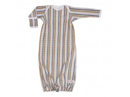LODGER Spací vak Hopper Newborn Stripe Xandu Honey