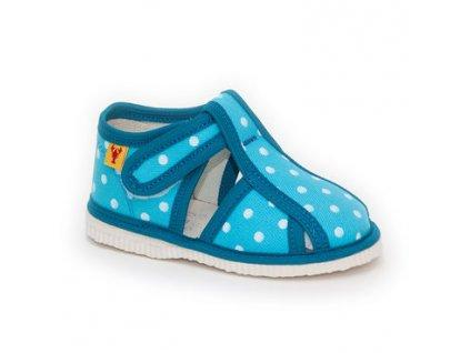 detska obuv papuce tyrkysova bodka 320.thumb 409x369