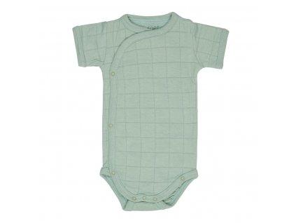 LODGER Body Romper Solid Short Sleeves Silt Green