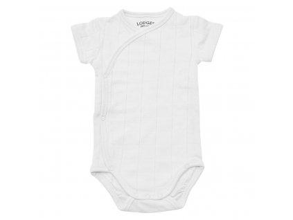 LODGER Body Romper Solid Short Sleeves White
