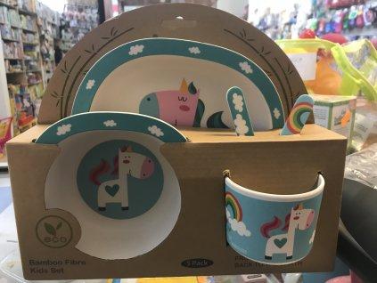 ZOPA Bambusová sada nádobí Unicorn