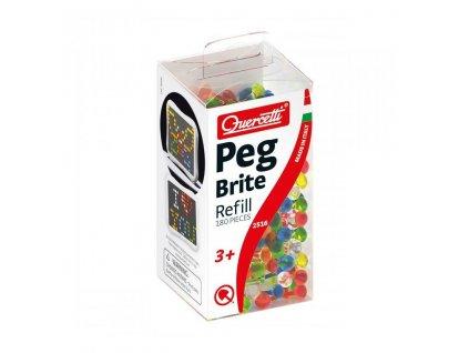 Quercetti Peg Brite refill – náhradné kolíčky k svietiacej mozaike