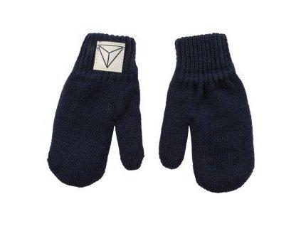 Nordic Label pletené vlnené rukavice Modré