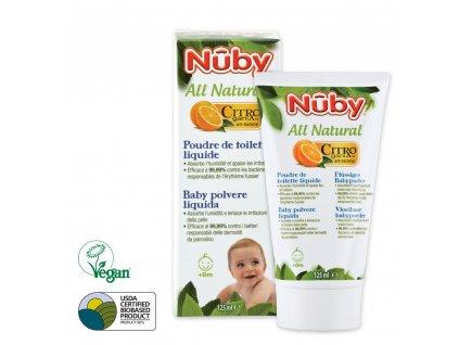 Nuby Púder tekutý detský All Natural 125 ml CG78012