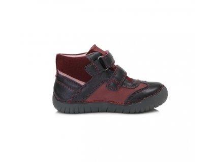 D.D.STEP LIGHT svietiace kožené topánky - Royal blue - červené