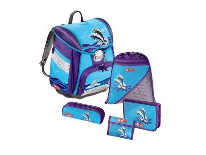 Školská aktovka - 5-dielny set Step by Step Delfíny, certifikát AGR