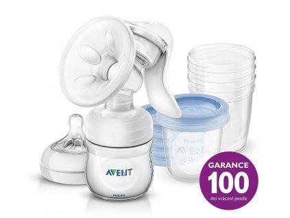 Philips AVENT Avent odsávačka mlieka Natural+5ks VIA 180ml 810957