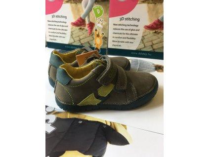 D.D.STEP LIGHT svietiace kožené topánky - Dark grey
