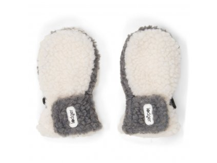 LODGER Rukavice Mittens Teddy Off White 1 2 roky