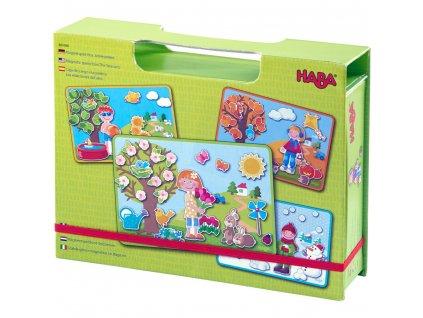 HABA Magnetická hra v kufríku Ročné obdobia