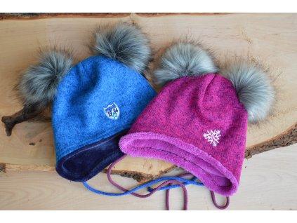 REPAL Zimná čiapka s huňami na zaväzovanie