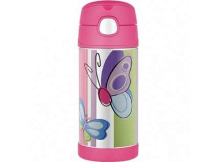 THERMOS® Detská termoska so slamkou FUNtainer® motýľ