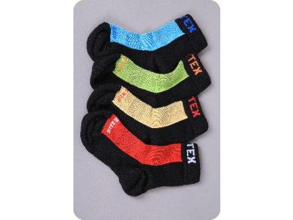 Surtex froté 80% detské ponožky - červená