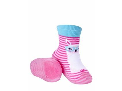 YO ponožky s gumovou podrážkou veľ. 21 - dievčenské