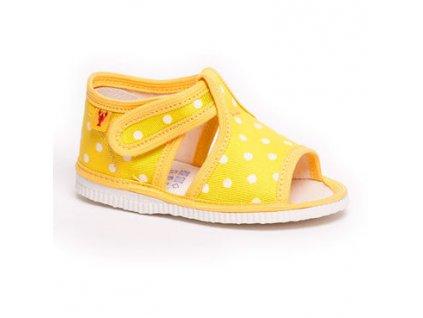 detska obuv papuce zlta bodka 330.thumb 409x369