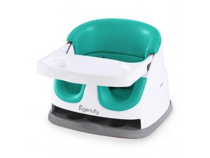 Ingenuity Podsedák na jedálenskú stoličku 2v1 Baby Base Ultramarine Green 6m+, do 22kg 11574-2