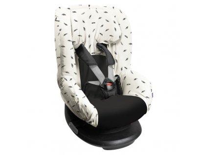 Dooky poťah na autosedačku Seat Cover Group1 Black Feathers
