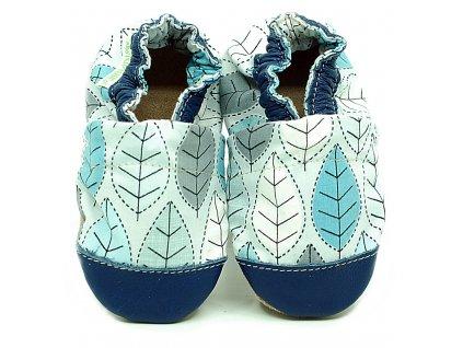 Fiorino Bavlnené capačky ekoTuptusie cotton - lístočky modré