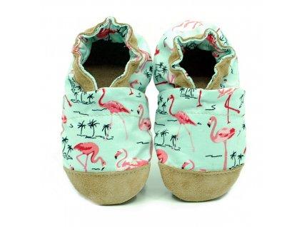 Fiorino Bavlnené capačky ekoTuptusie cotton - flamingos