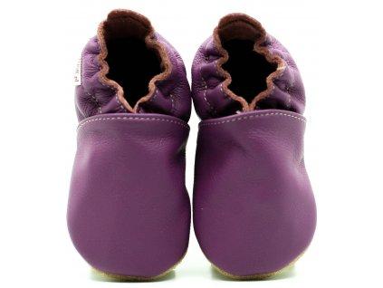 FIORINO kožené capačky - violet