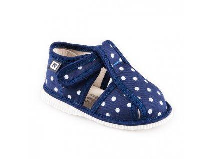 Rak papuce modra bodka 840