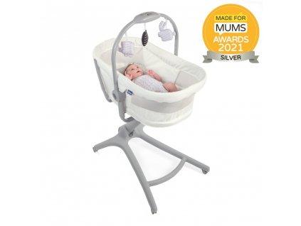 Chicco Postieľka/lehátko/stolička Chicco Baby Hug Air 4v1 White Snow 79193.0630