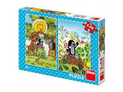 Dino puzzle Krtko 2x48  Puzzle Krtko
