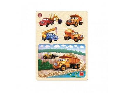 Dino drevené puzzle, Tatra v lome  drevené puzzle