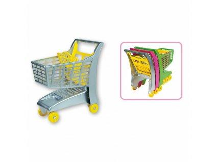 Androni Nákupný vozík ružový