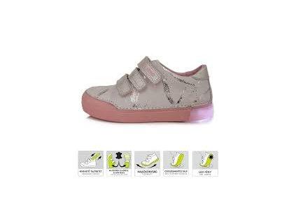 D.D.STEP LIGHT 068 svietiace topánky white prskané