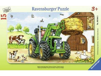 Ravensburger puzzle traktor na statku